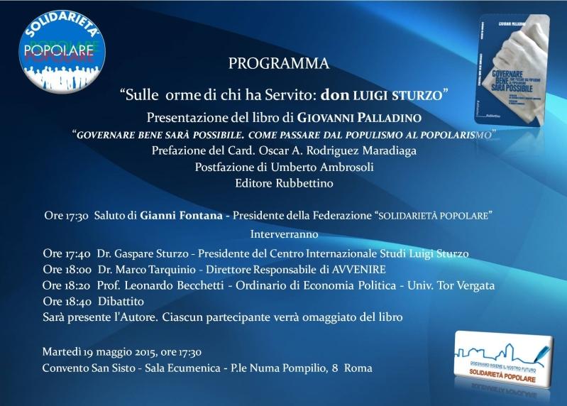 Programma Convegno don Sturzo